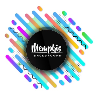 Creative colorful modern memphis banner background