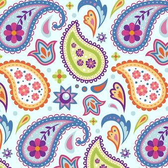 Creative colorful paisley pattern