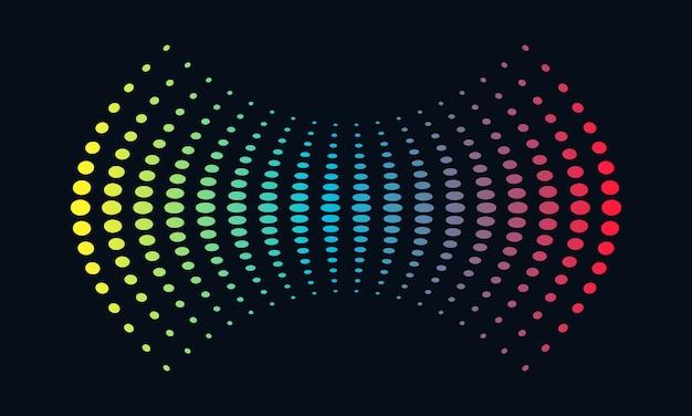 크리 에이 티브 다채로운 사운드 파형 일러스트 디자인