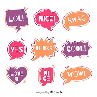Creative colorful speech balloons for dialog