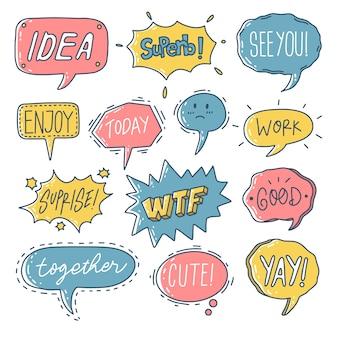Творческий красочный набор речи пузырь