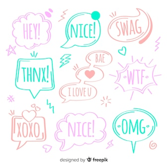 Creative colorful speech bubbles for dialog