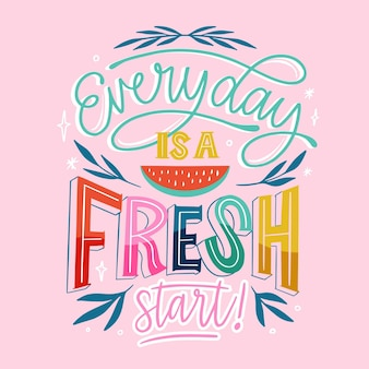 Creative colorful summer lettering