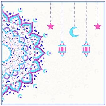 創造的な着色イスラムのマンダラ