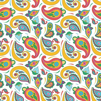 Creative colourful paisley pattern