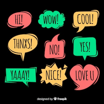 Creative colourful speech bubbles for dialog