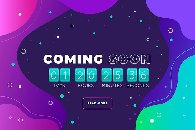 Creative coming soon teaser background