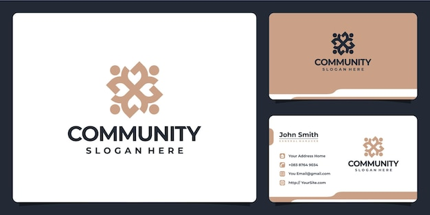 Creative community logo design for social group and business card