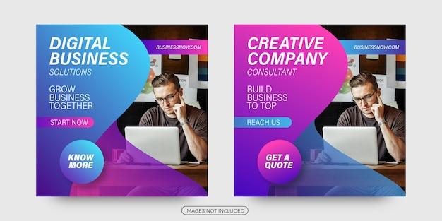 Creative company business social media post templates