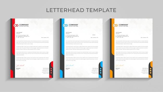 Creative company letterhead  template  .