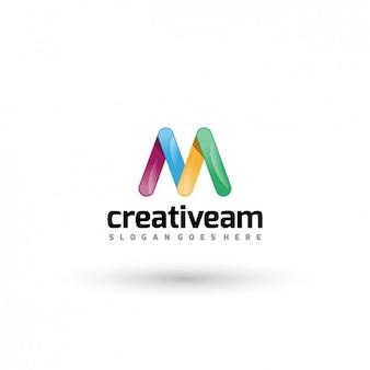 Creative company logo template Free Vector