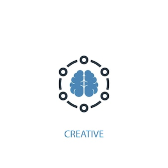Creative concept 2 colored icon. simple blue element illustration. creative concept symbol design. can be used for web and mobile ui/ux