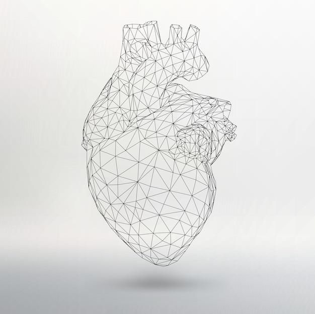 クリエイティブコンセプト人間の心の背景。あなたのデザインのためのベクトルイラストeps10。