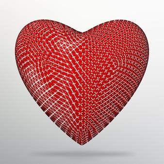 Креативная концепция предпосылка красного сердца. абстрактный фон вектор творческой концепции