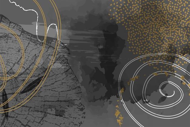 Креативный макет флаера концепции с годичными кольцами деревьев.