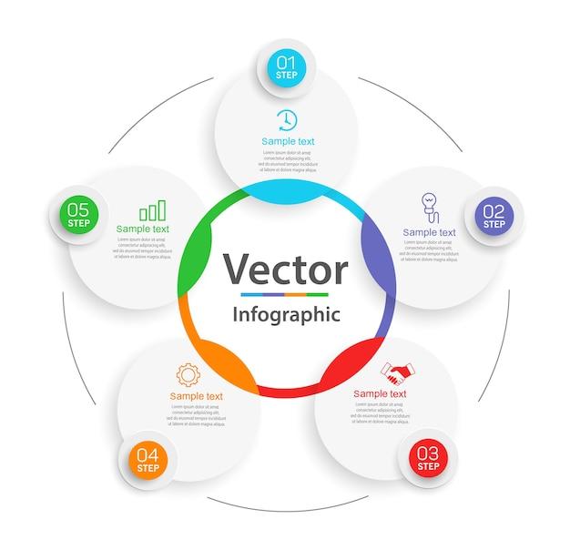 Креативная концепция для инфографической схемы с шагами