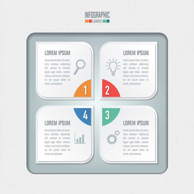 Creative concept for infographic. business concept with 4 options, steps or processes.