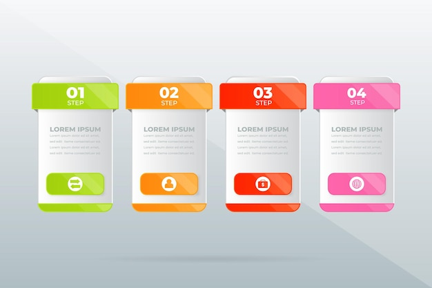 Creative concept for infographic business data visualization