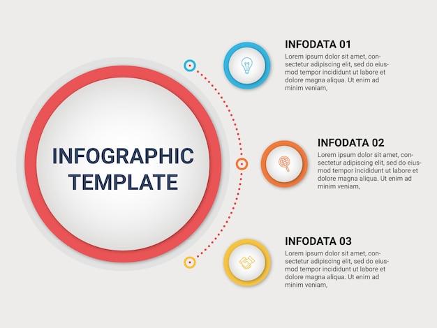Creative concept infographic design