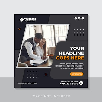 Creative concept instagram social media post template