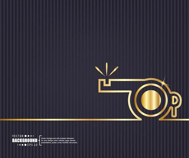 Creative concept line background.