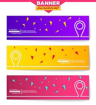 Creative concept vector banner background.