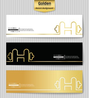 Creative concept vector banner template.