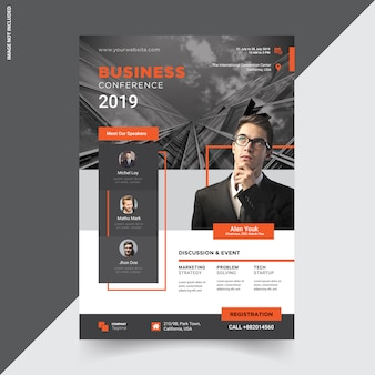 Creative conference  flyer template design