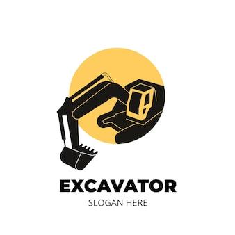 Креативный строительный логотип с изображением и текстом