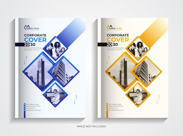 크리에이 티브 기업 책 표지 디자인 서식 파일 세트
