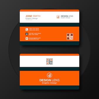 クリエイティブな企業名刺デザインテンプレート