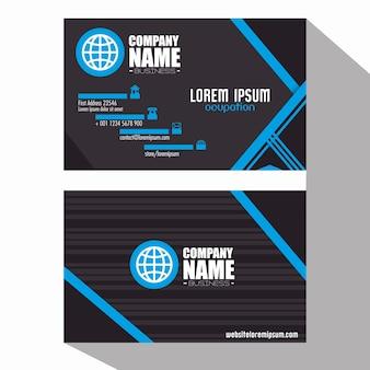 創造的な企業名刺テンプレート