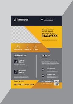 Creative corporate business flyer design template