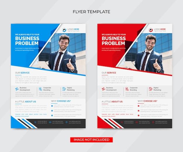 Креативный корпоративный бизнес флаер шаблон