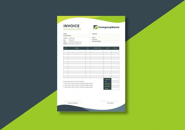 Creative corporate business invoice template