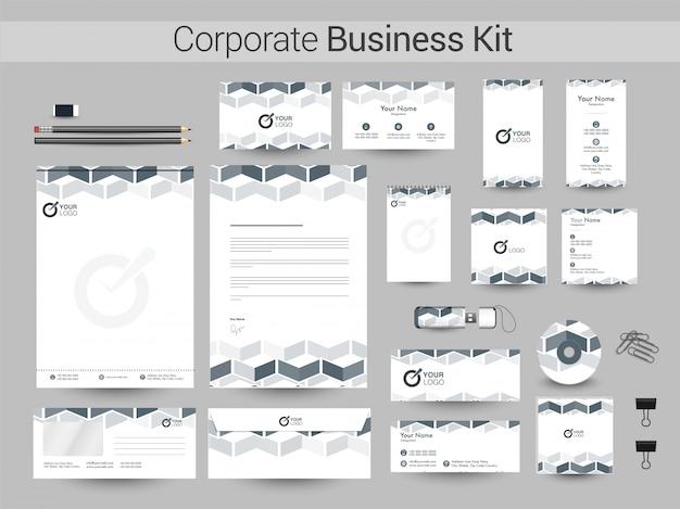 創造的な企業のビジネスキット。