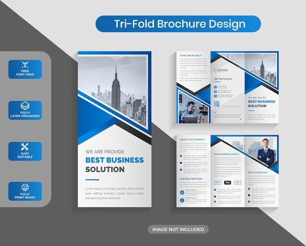 Creative corporate business trifold 브로셔 디자인