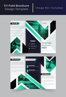 Creative corporate business trifold brochure