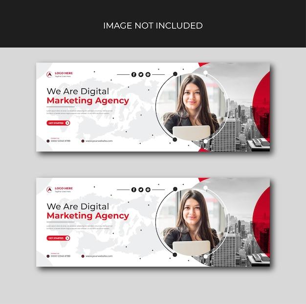 Креативный пост корпоративного цифрового маркетинга для социальных сетей и дизайна instagram