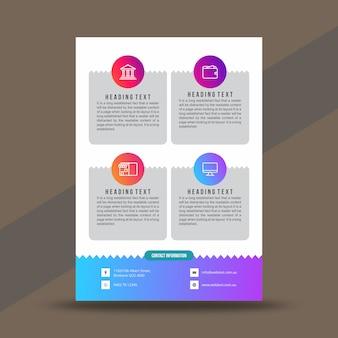 크리 에이 티브 기업 전단지 디자인 서식 파일