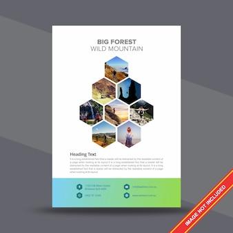 Creative corporate flyer design template