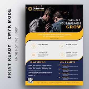 Creative corporate flyer design template