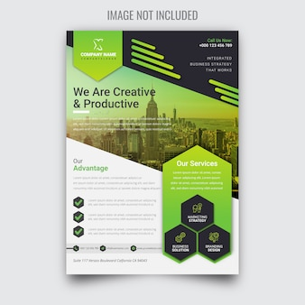 Creative corporate green business flyer