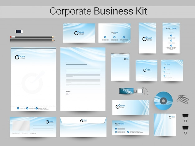 Creative corporate identity or business kit design.