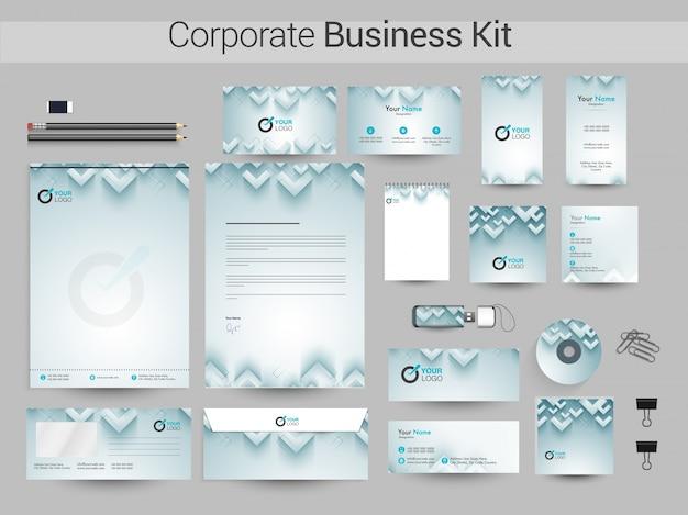 創造的な企業アイデンティティまたはビジネスキットの設計。