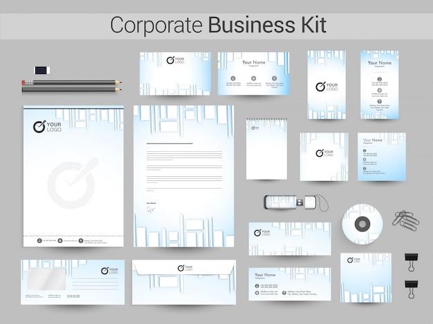 創造的な企業アイデンティティまたはビジネスキット。
