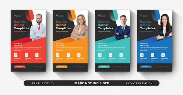 Creative corporate instagram story templates Premium Vector