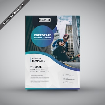 Creative corporate low poly flyer template