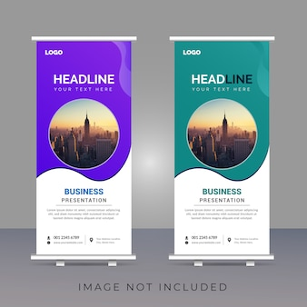 Creative corporate roll-up banner template design
