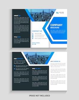 クリエイティブな企業の三つ折りパンフレットのデザインと三つ折りチラシのテンプレート